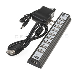 New 10 PORTS USB HUB 2.0 High Speed /Power AC Adapter 7