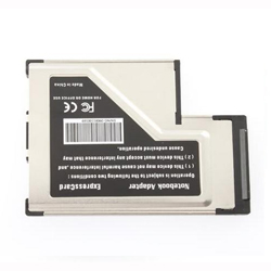 Express Card Expresscard 54mm to USB 3.0 x 2 Port Adapter Adaptore