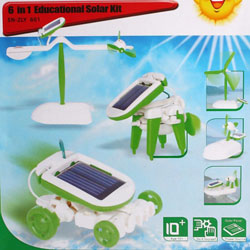 6 in 1 Manual Assemble Solar Power Educational Kits Toy