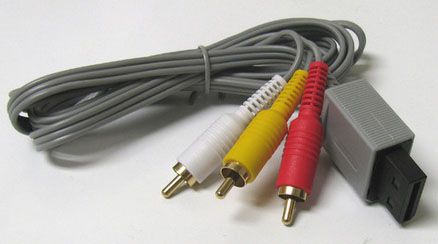 New Audio Video AV Composite RCA Cable for Nintendo Wii