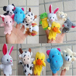 10 Finger Hand Animal Shaped Puppets Baby Childs Kids Learn Story Xmas Toy Gift