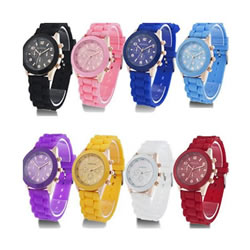 HOT Luxury Geneva Silicone Quartz   Ladies Women