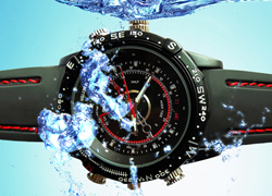 8GB 8M Pixels HD Waterproof Spy Camera Watch Mini DVR
