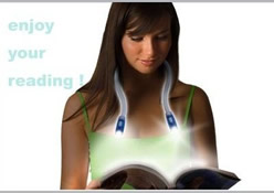 LED Handsfree Neck Around Night Reading Book Hug Light