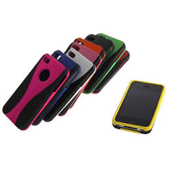 Change Hybrid 3-Piece Hard Skin Case Cover for iPhone 4 Apple 4G 4S colorful