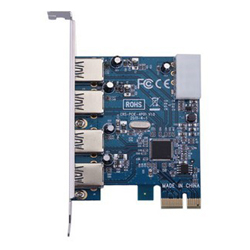 New 4 Port USB 3.0 PCI-E PCI Express Card Adapter 5Gbps Superspeed for XP WIN7