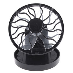 Clip-on Solar Cell Fan Sun Power energy Panel Cooling