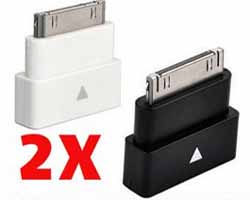 2 X 30 Pin Dock Extender Adapter IPhone, Works with ,  Case