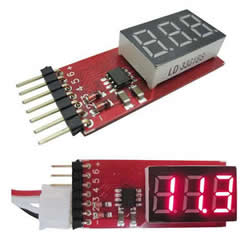 RC helicopter Lipo battery AKKU portable Voltage meter Tester   alarm 2-6S AOK