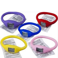 Fashion Cute Silicone Rubber Jelly Ion Sports Bracelet Wrist Watch Stylish Women