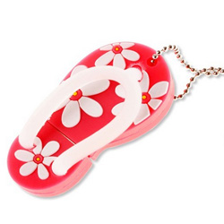 New Flower Slipper Shoes Silicone 8GB USB 2.0 Flash Memory Stick/ Drive U Disk