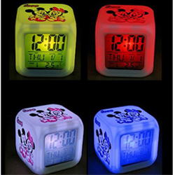 LED Change 7 Color Digital Temperature Alarm Clock Lovey Mickey Mouse New