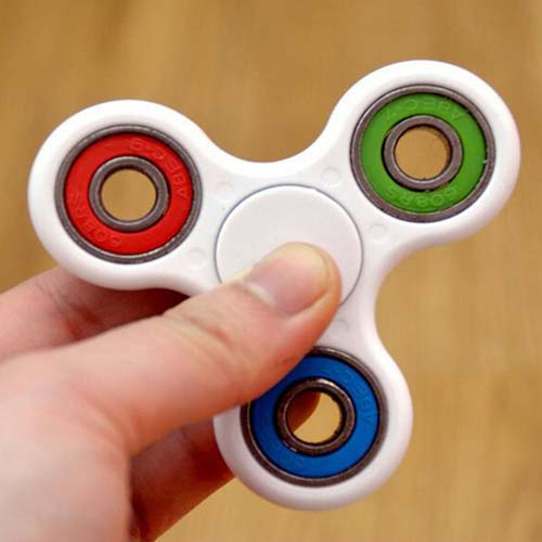 Tri-Spinner Fidget Toy Plastic EDC Fidget Hand Spinner For Autism and ADHD Rotation Time Long Anti Stress Toys Focus Toy