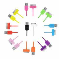 10 Candy Color 3F USB Data Sync Charger Cable For Ipod Touch Nano iPhone 4 4S 3G