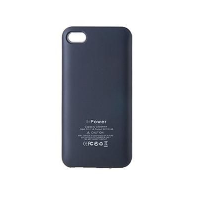 iPhone 4 / 4Sに適用して2200mAh充電式外付けバッテリー(黒色)
