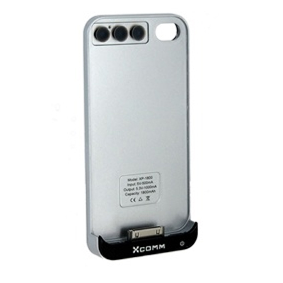 iPhone 4 / 4S に適用して1800mAhバッテリーを持ってバック?カバー(銀色)