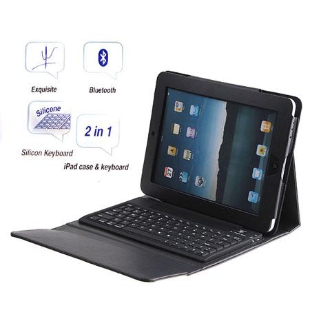 iPad用 無線Bluetoothキーボードと皮革のカバー