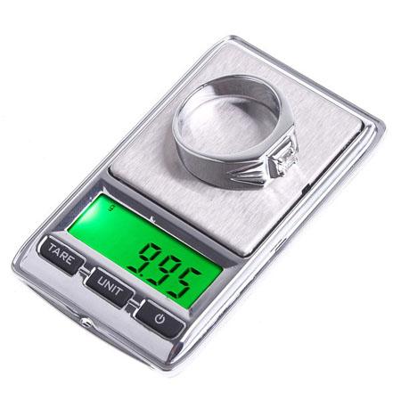 0.01g x 100g ジュエリーのポケット秤 正確なグラム測定、デジタルLCDディスプレイ