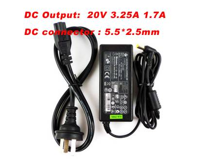 3.25A FOR Advent AC ADAPTER 0335A2065 0335C2065
